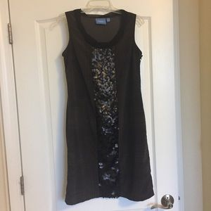 Simply Vera Vera Wang Brown Shift Dress w/ Sequins